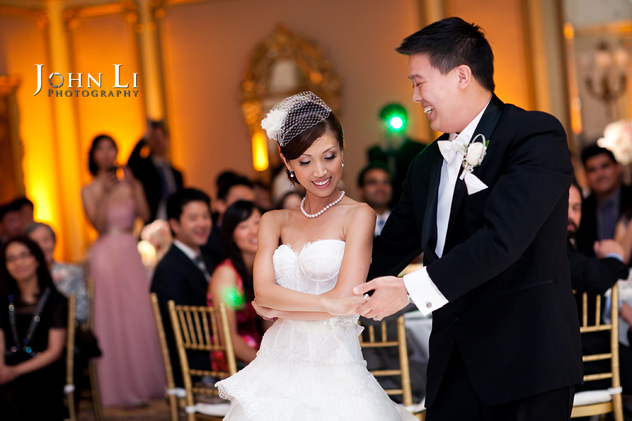 birde and grooms first dance in Langham Hotel