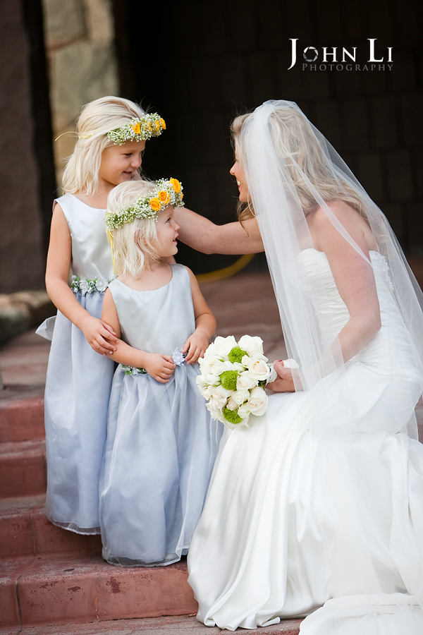 Limoneira Ranch Wedding bride with flower girls