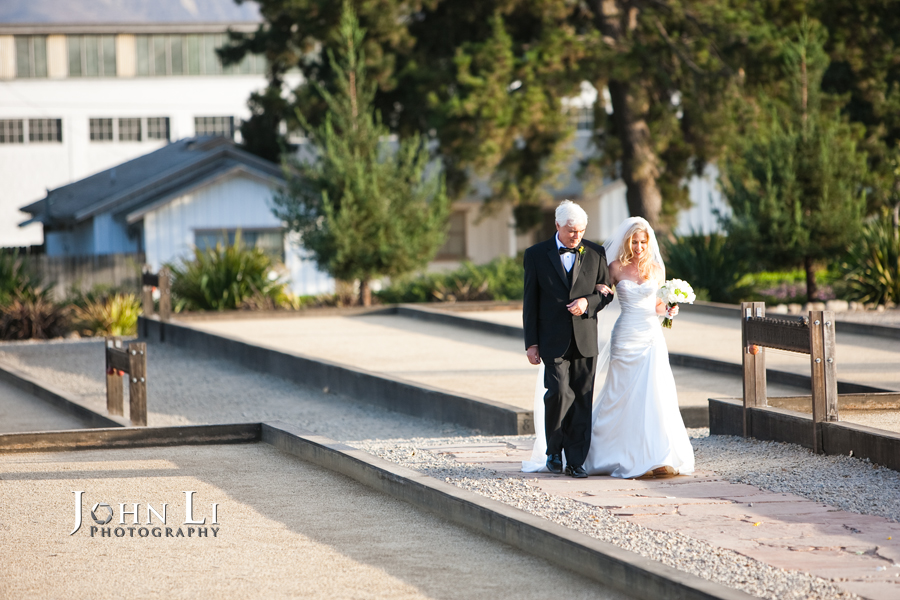 Limoneira Ranch Wedding ceremony bride walk in