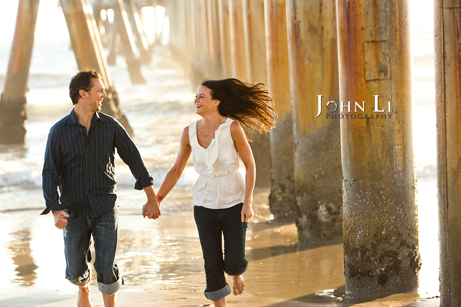 Venice beach engagement session