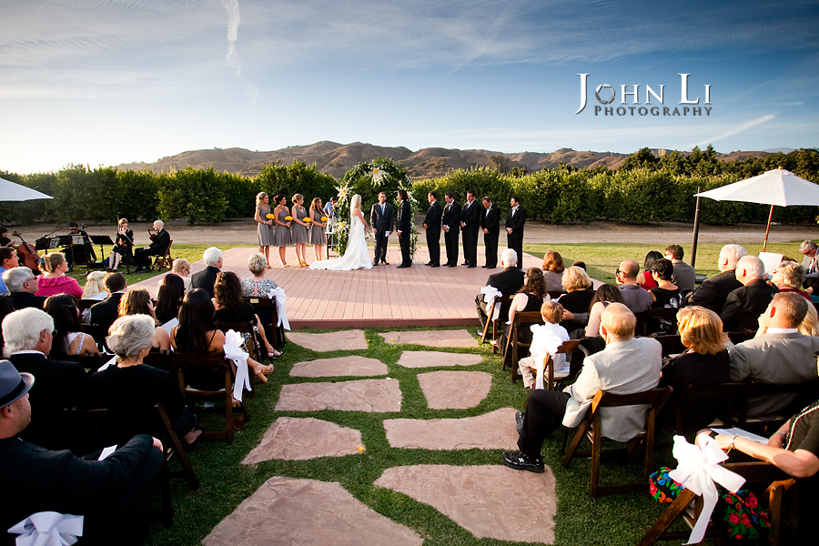Limoneira Ranch Wedding ceremony site