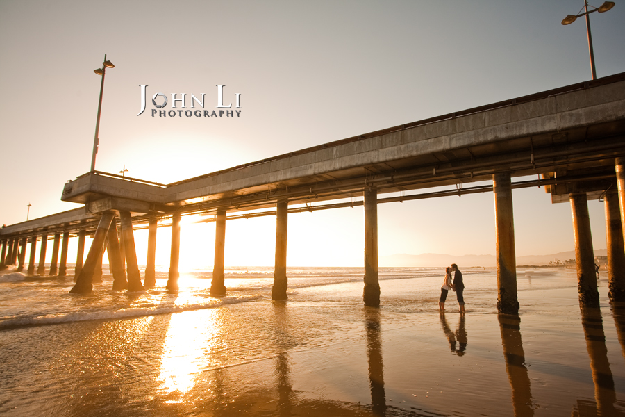 Venice Pier engagment photo