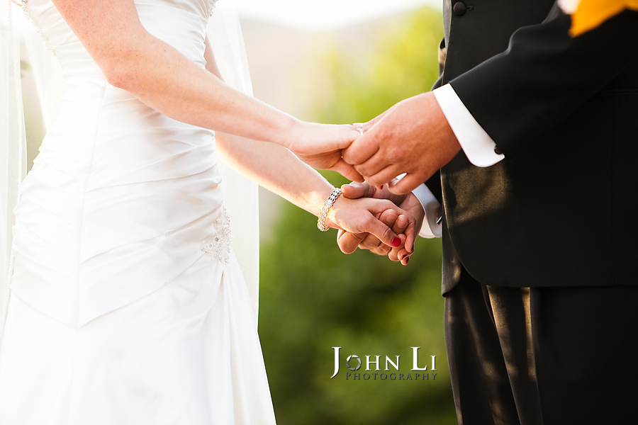 Limoneira Ranch Wedding hold hands