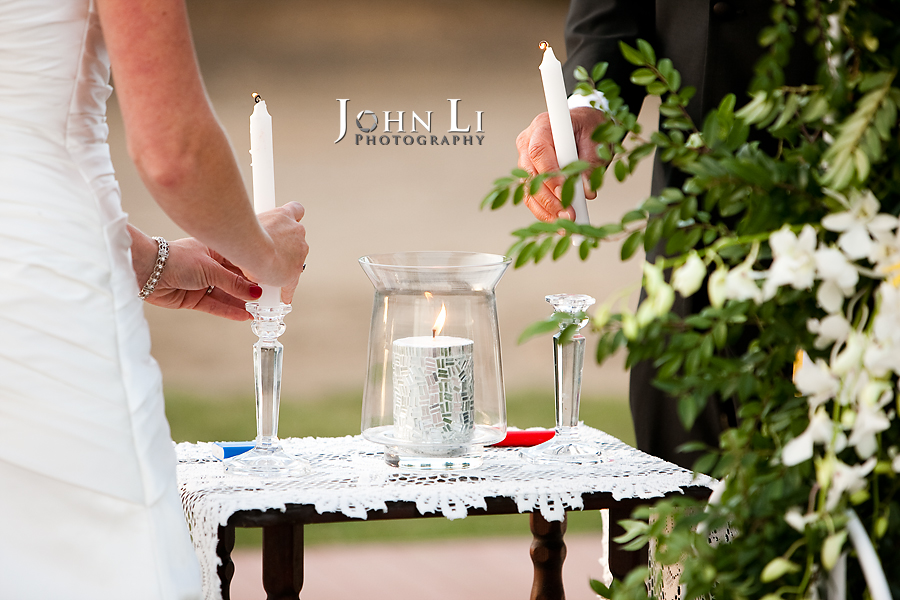 Limoneira Ranch Wedding light the candle