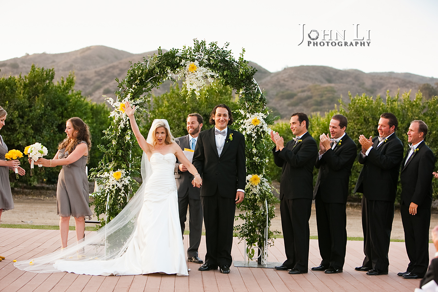 Limoneira Ranch Wedding ceremony finished