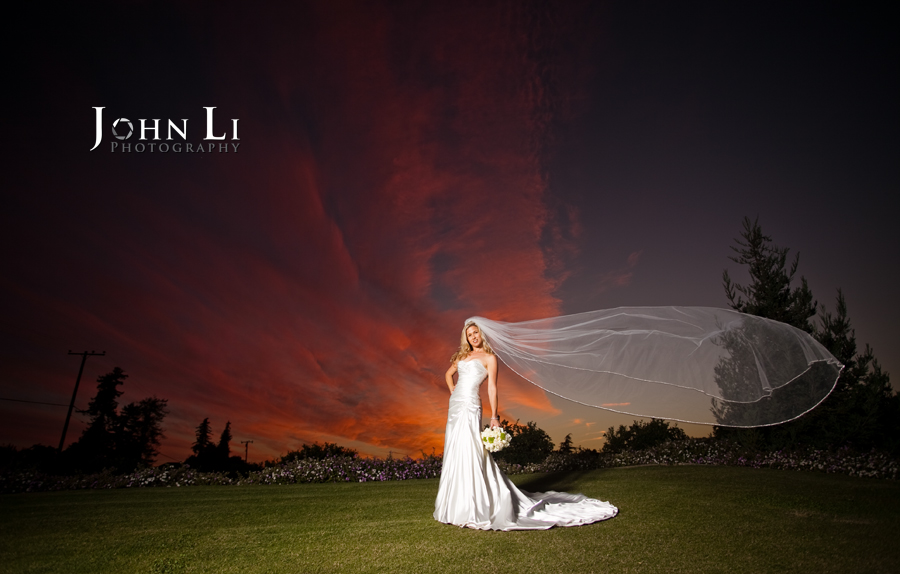Limoneira Ranch Wedding bride portrait