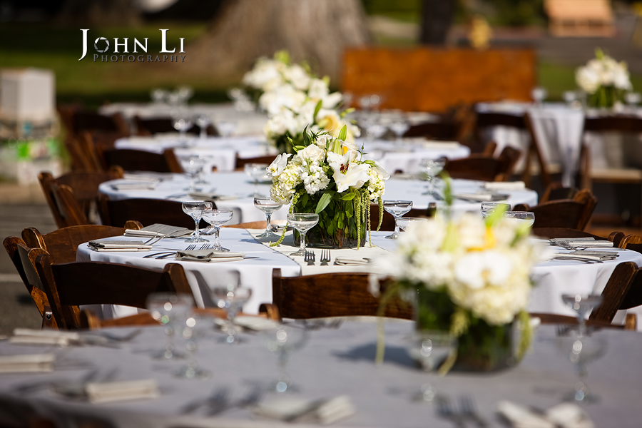 Limoneira Ranch Wedding reception table setting