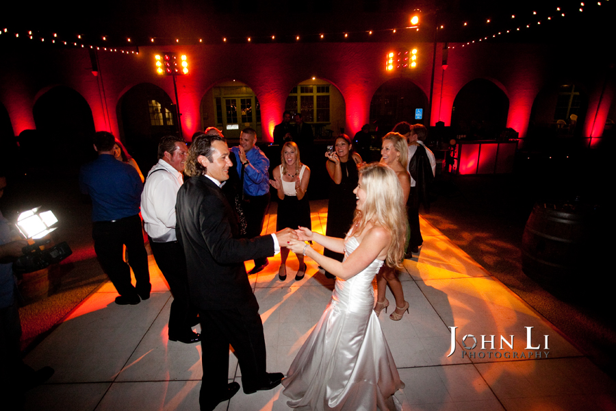 Limoneira Ranch Wedding bride and groom first dance