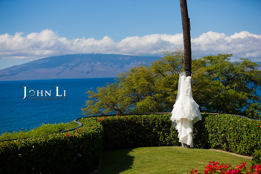Hawaii wedding photography wedding gown Sheraton Maui Resort