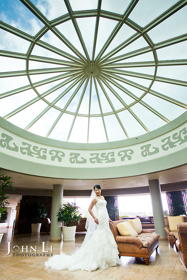Hawaii wedding photography bride portrait