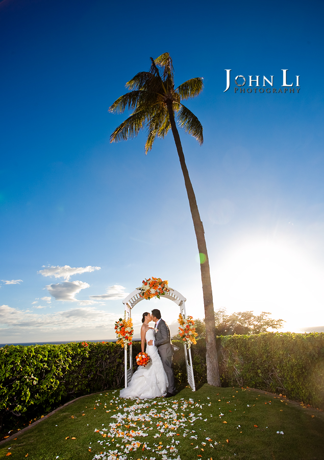 bride and groom wedding portrait in black rock Sheraton wedding ceremony