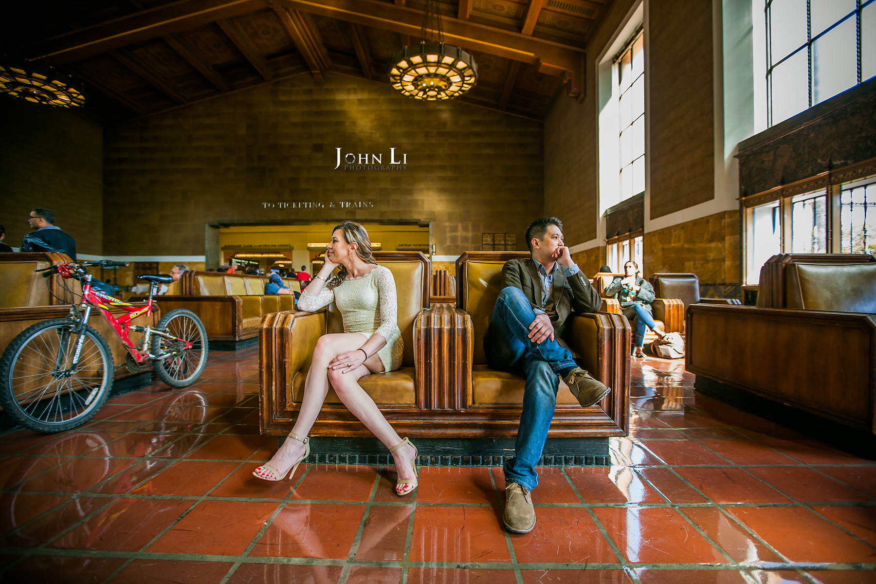 Los Angeles Downtown Engagement Union Station pictures