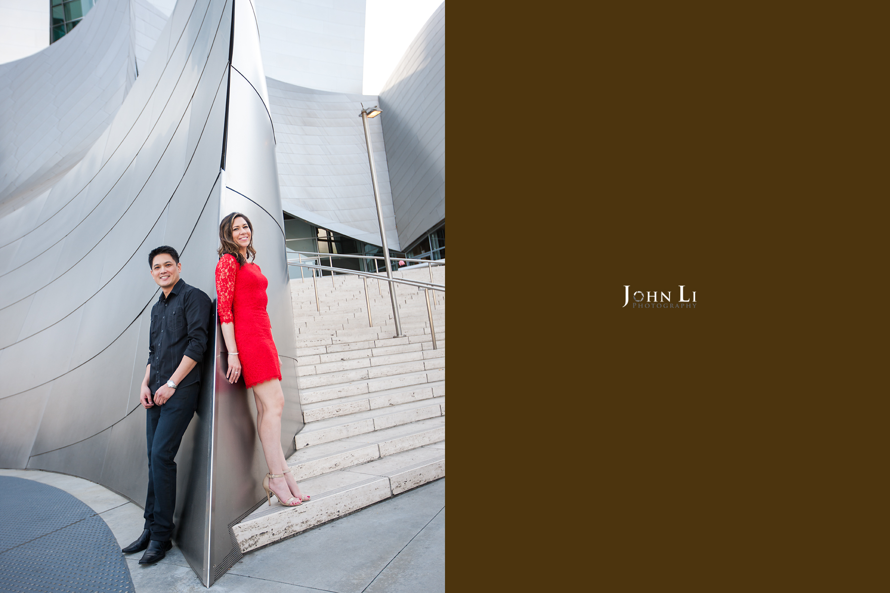 Downtown Los angeles Engagement in Walt Disney Concert Hall