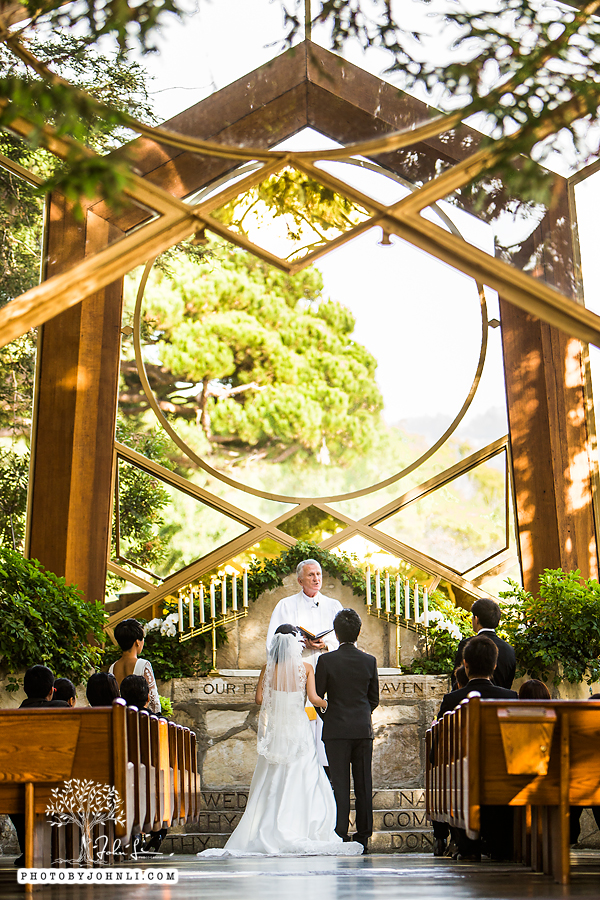 001 Wayfarers chapel Wedding Ceremony PV Wedding Photography