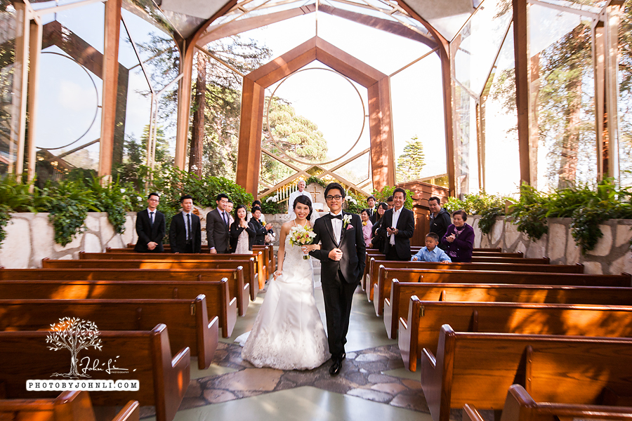 002 Wayfarers chapel Wedding Ceremony PV Wedding Photography
