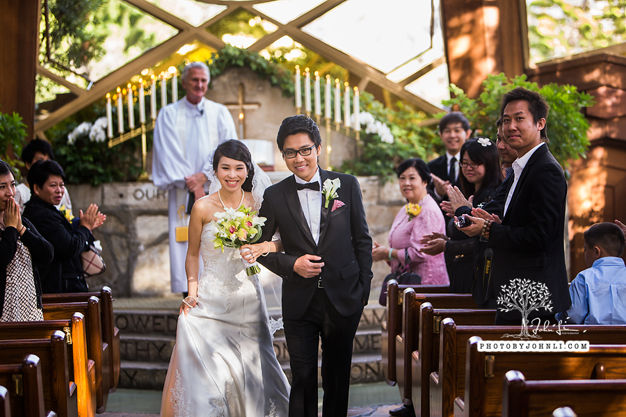 003 Wayfarers chapel Wedding Ceremony PV Wedding Photography
