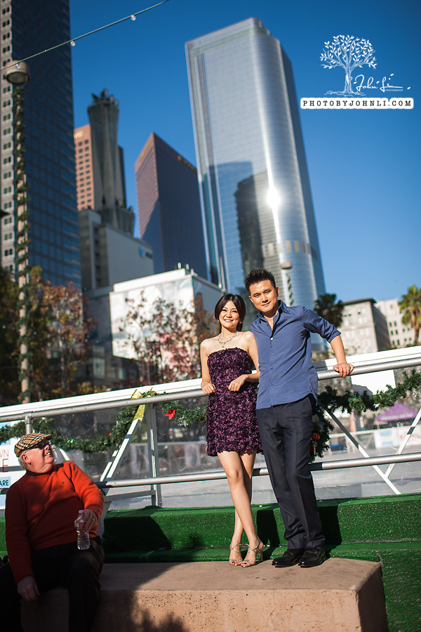 001 Engagement photography downtown LA