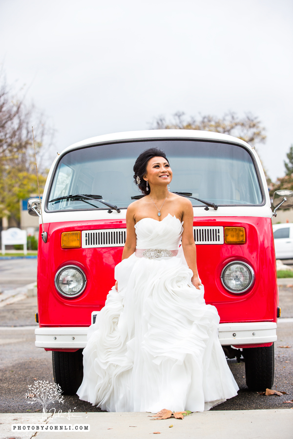 021 Orange County Wedding Photography  with vw van