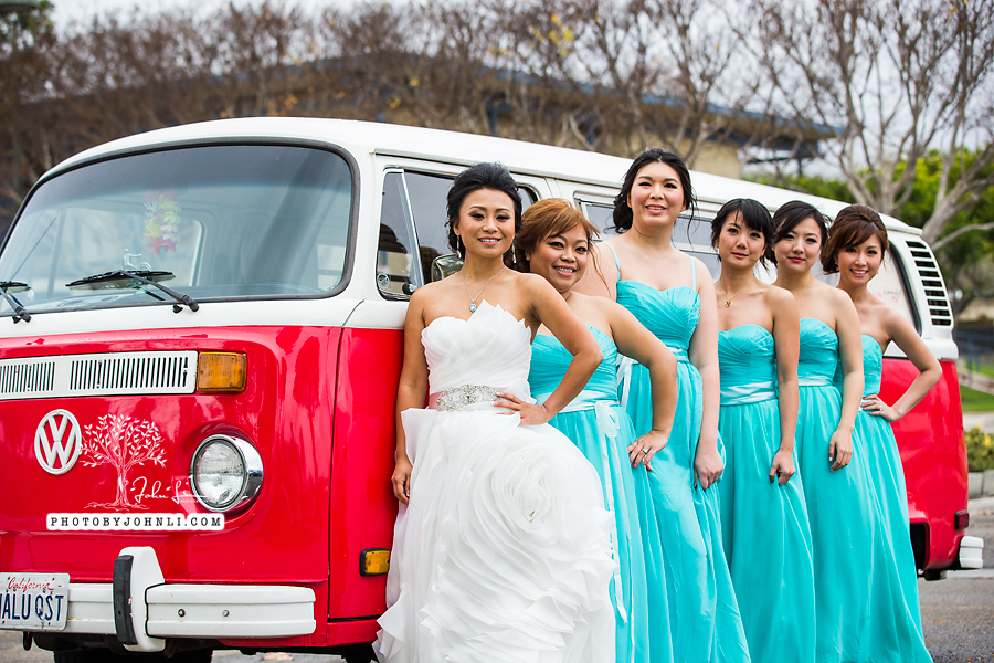 022 Orange County Wedding Photography  with vw van