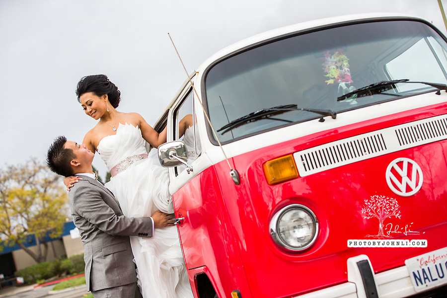 028 Orange County Wedding Photography  with vw van