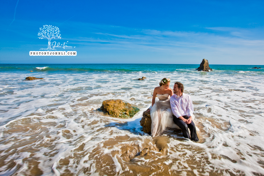 006  Trash the dress on Malibu Beach