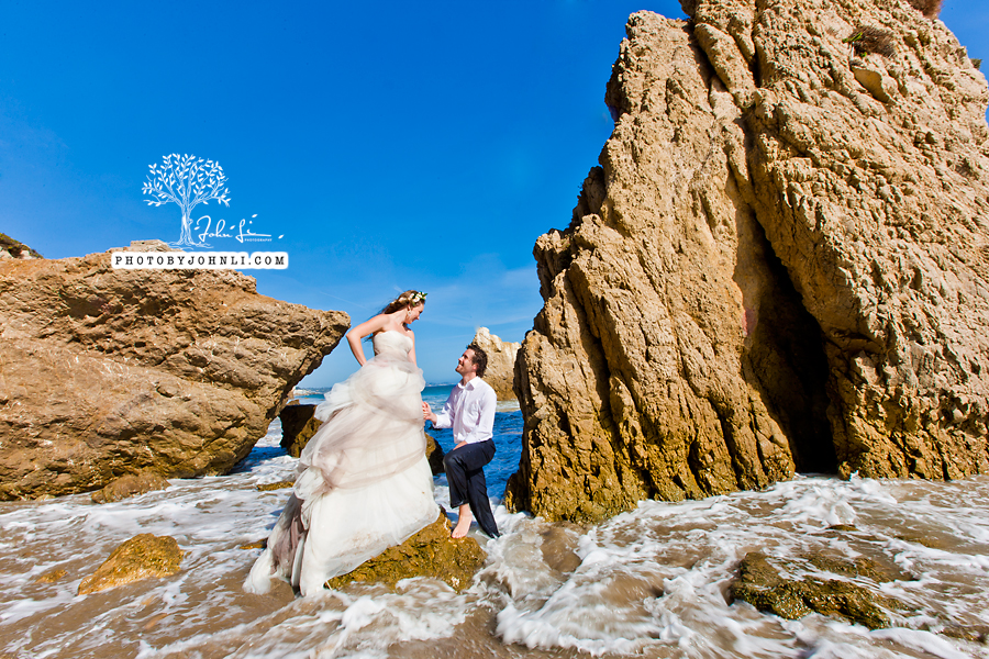 010  Trash the dress on Malibu Beach
