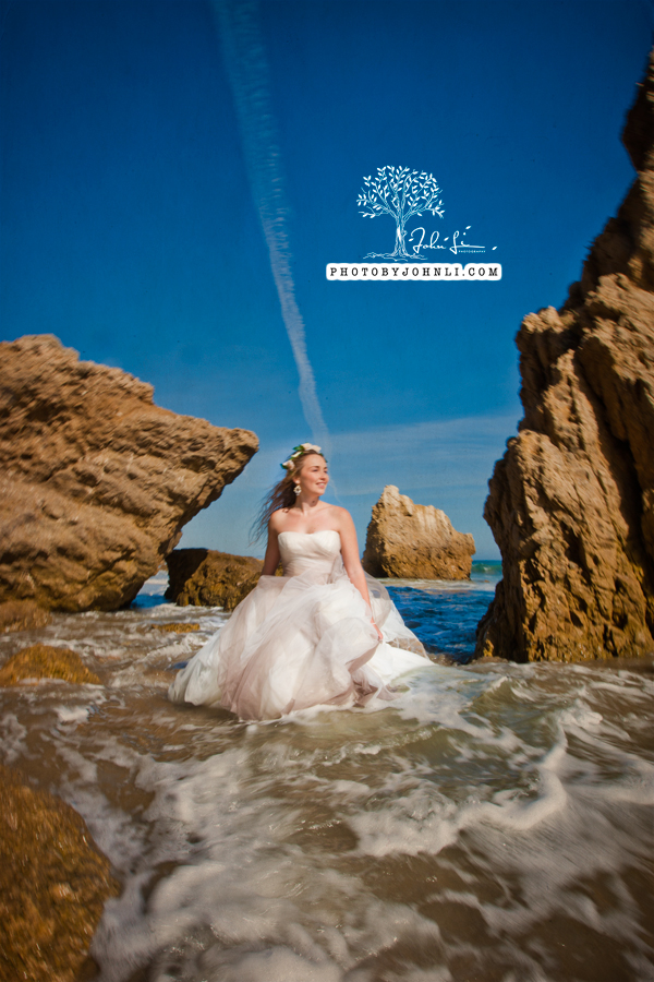 012  Trash the dress on Malibu Beach