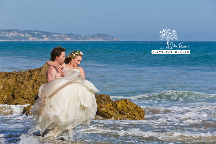 022  Trash the dress on Malibu Beach