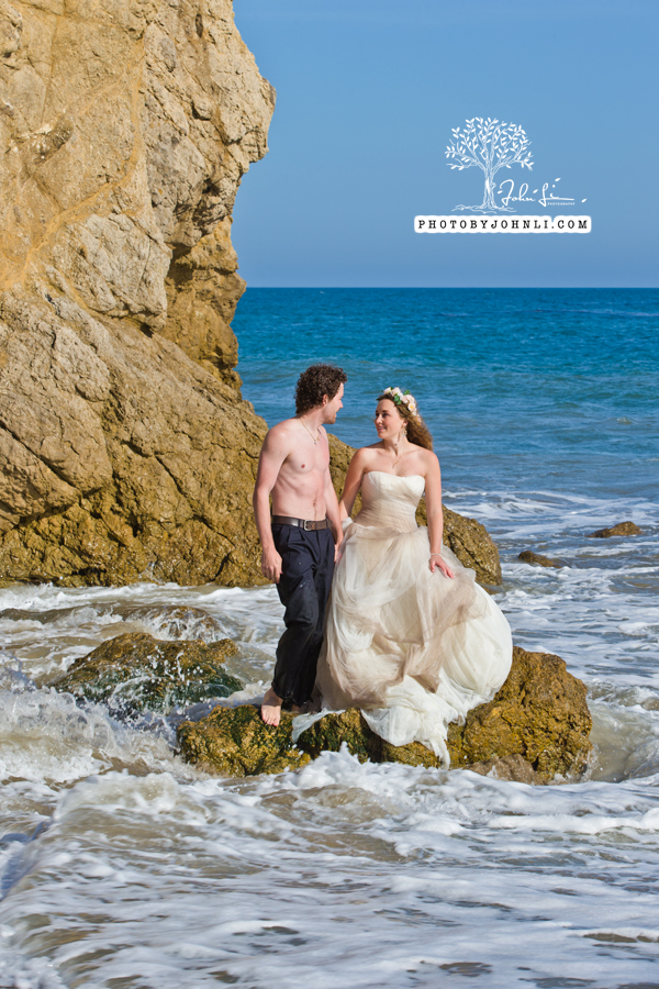 023  Trash the dress on Malibu Beach