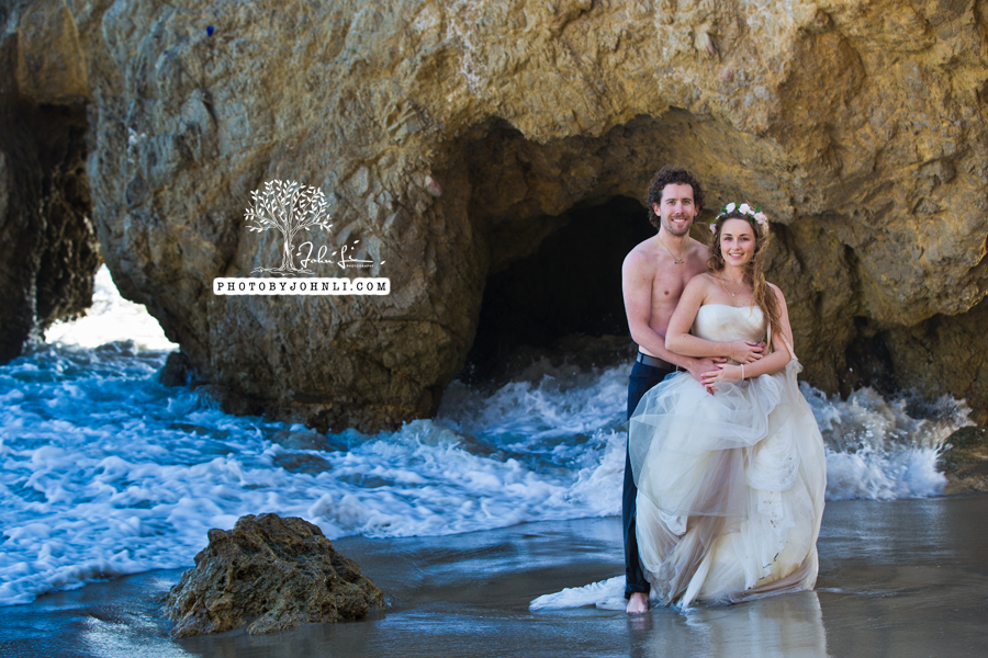 026  Trash the dress on Malibu Beach