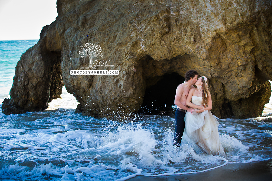 027  Trash the dress on Malibu Beach