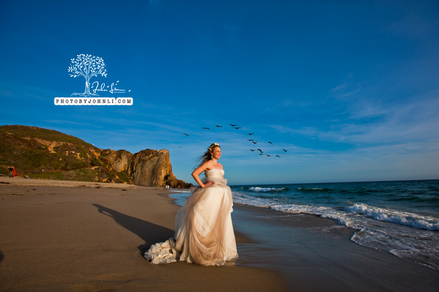 029  Trash the dress on Malibu Beach
