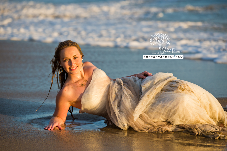 041  Trash the dress on Malibu Beach