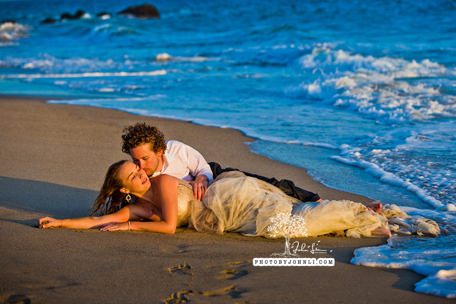 044  Trash the dress on Malibu Beach